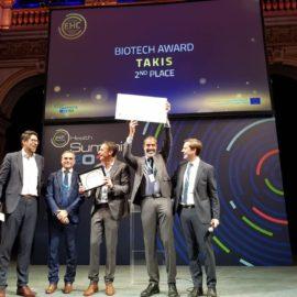Takis, premiata tra le migliori aziende biotecnologiche in Europa.Una speranza per i malati di cancro